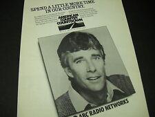 Abc Radio American Country Countdown Bob Kingsley 1985 Promo Display Ad mint