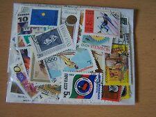 100 monde différent timbres, Excellent lot.