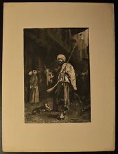 """""""The Old Clothes Dealer"""" Original Etching by Stephen J. Ferris 1889 BEAUTIFUL!"""