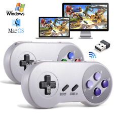 PC Game Controller Wireless Computer Joystick Joypad SNES Gamepad + USB receiver