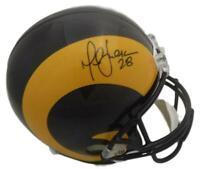Marshall Faulk Autographed/Signed Los Angeles Rams Replica Helmet JSA 14604