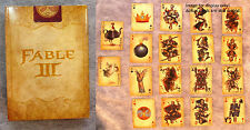 Playing Cards Fable III Limited Collector's Edition Set NEW! Poker Deck Sealed!