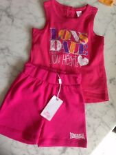 NEW BABY GIRLS LONSDALE SET SIZE 6-12 MONTHS RRP $50