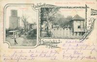 Ansichtskarte Turmberg Durlach 1899 Restauration Zum Burghof Karlsruhe (Nr.776)