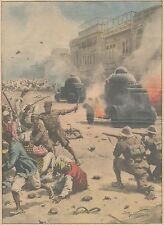 K0075 Rangoon - Guerriglia tra Gandhisti e Polizia - Stampa d'epoca - 1930 print