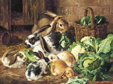 Bunny Rabbits 4 by ALFRED RICHARDSON BARBER