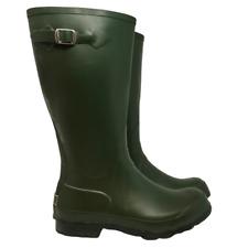 "L.L. Bean Womens Wellies Boots Rubber 15"" Tall Green Viking Askim Sole Size 8"