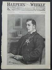Harper's Weekly Cover-Page A4#54 Nov. 1888 Right Honorable Joseph Chamberlain