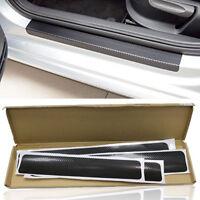 4x Carbon Fiber Look Auto Türschwelle Scuff Pedal Platte Aufkleber Anti-Scratch