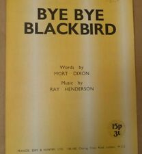 song sheet BYE BYE BLACK BIRD Ray Henderson