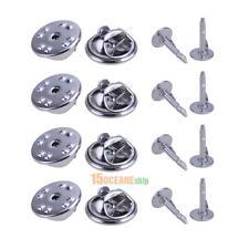 100 set Silver Brooch Base Holder Pins Badge Holder for DIY Jewelry Craft Decor
