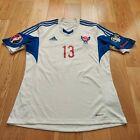 Mens adidas Faroe Islands #13 Home football shirt 2014 - 2016 Size L