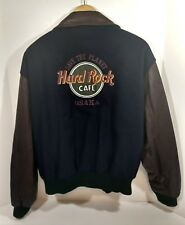 Hard Rock Cafe Osaka Letterman Wool Blend Leather Varsity Jacket Sz LG