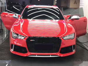 Audi A7/S7 (C7.5) RS7 Style Gloss Black Honeycomb Front Grille