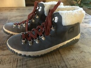 Sorel Women's Out 'N About Conquest Waterproof Suede Boot Quarry Sz 9