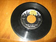 THE CAPRIS- TEARS IN MY EYES- WHY DO I CRY- 45RPM- RECORD- PROMO- VG+NO COVER