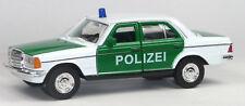 Mercedes 230E Polizei Einsatzfahrzeug grün/weiß Modellauto ca. 12cm 1:39 WELLY
