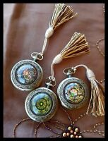 Handcrafted Solid Perfume Fragrance Compact - Pocket Watch by Sukran