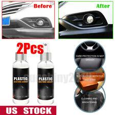 2X Car Interior Plastic Instrument Parts Retreading Restore Agent Wax Accessory