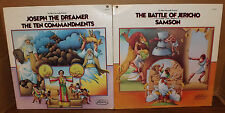 Joseph The Dreamer/ Ten Commandments & Battle Of Jericho/ Samson 2 Records LPs