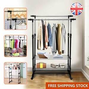 Clothes Rail Rack Garment Dress Hanging Display Stand Shoe Rack Storage Shelf