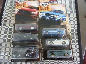 Matchbox 2020 Ford Mustangs Set x 6
