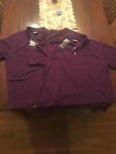 NIKE Golf Dri-Fit Men's Polo Shirt Stay Cool Purple Short Sleeve NEW $50 Large