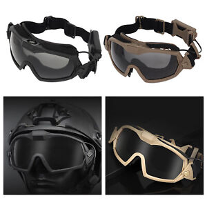 Deluxe Tactical Goggles UV400 Women Men Goggle Shockproof Paintball Eyewear