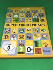 Super Mario Maker Nintendo Wii U Boxed PAL UK Genuine Kids / Adults Game