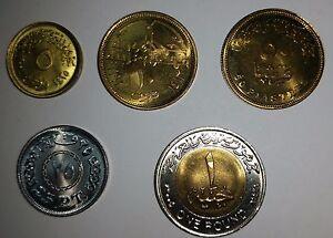 ُEgypt set of 5 UNC coins 2007-2015