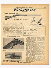 1958 AD WINCHESTER MODEL 21 MAGNUM SHOTGUN 12 & 20 GAUGE 3-INCH SHELLS