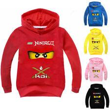 Ninjago Girls Boys Hooded Tops T-shirt Kids Hoodie Jumper Cartoon Costume 2-10Y