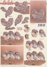 Feuille 3D à découper A4 - 777.024 Petites chouettes - Decoupage Owl