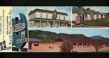 Oversized postcard Quebec Canada St. Omer Hotel Motel Fleur de Lys