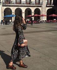 New Zara Woman boho floral midi dress Size S/36