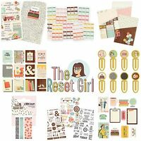 Simple Stories THE RESET GIRL Planner Insert Dividers Stickers (fits A5 Filofax)