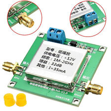 0,01- 2000 MHz 32dB Geräuscharmer Verstärker LNA RF Breitband Modul UHF VHF