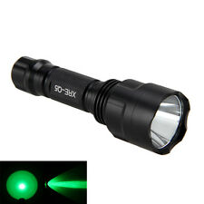 5000LM C8 Green Light LED Tactical Flashlight Hunting Clamping Torch 18650 Lamp