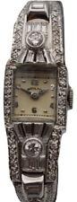 Hamilton Antique Ladies Platinum Watch 900 Diamonds 2ct.tw.