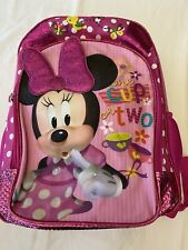 Disney Minnie Mouse Girls Backpack/Bookbag One Cup Or Two