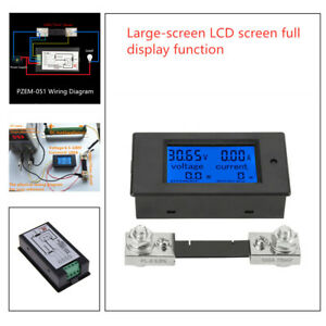 LCD Digital Large-screen  Motorcycle Voltage Current Power Meter Gauge Backlight