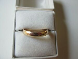 Vintage Mens & Womens Size 9.25 Yellow Gold Wedding Band Marked 10k T-M  2.94 gr