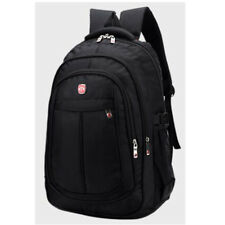Black Men Laptop Backpack Water-resistant Business Computer Shoulder Rucksack