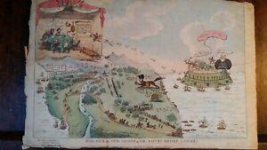 1815 SATIRICAL PRINT THE FOX & GOOSE BONEY BROKE LOOSE NAPOLEON - G CRUIKSHANK