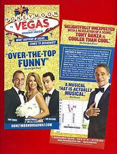 "Tony Danza ""HONEYMOON IN VEGAS"" Rob McClure / Jason Robert Brown 2015 Flyer"