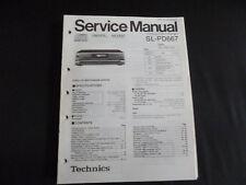 Original Service Manual Technics sl-pd647