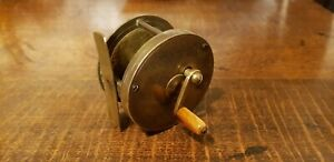 "2 3/4"" VICTORIAN BRASS MULTIPLYING WINCH. HIGH RATIO 1: 3.25."