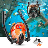 Full Face Mask Anti-Fog Swimming Breath Dry Diving Goggle Snorkel Scuba Glass US