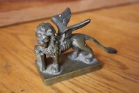 Venetian Brass Winged Lion Of St Marks statue figure Antique Vintage sculpture