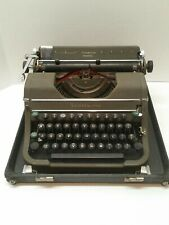 Vintage Underwood Champion Typewriter with Case-preowned, with case.